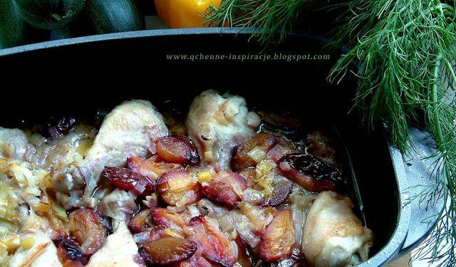 Pijany kurczak ze śliwkami na niedzielny obiad