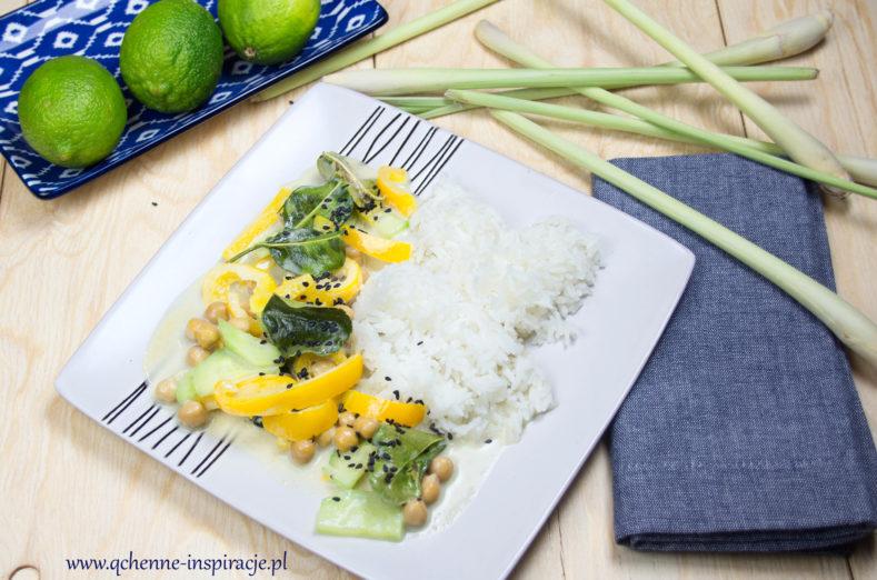 Blyskawiczne Aromatyczne Zielone Curry Z Cieciorka Czyli Tajska