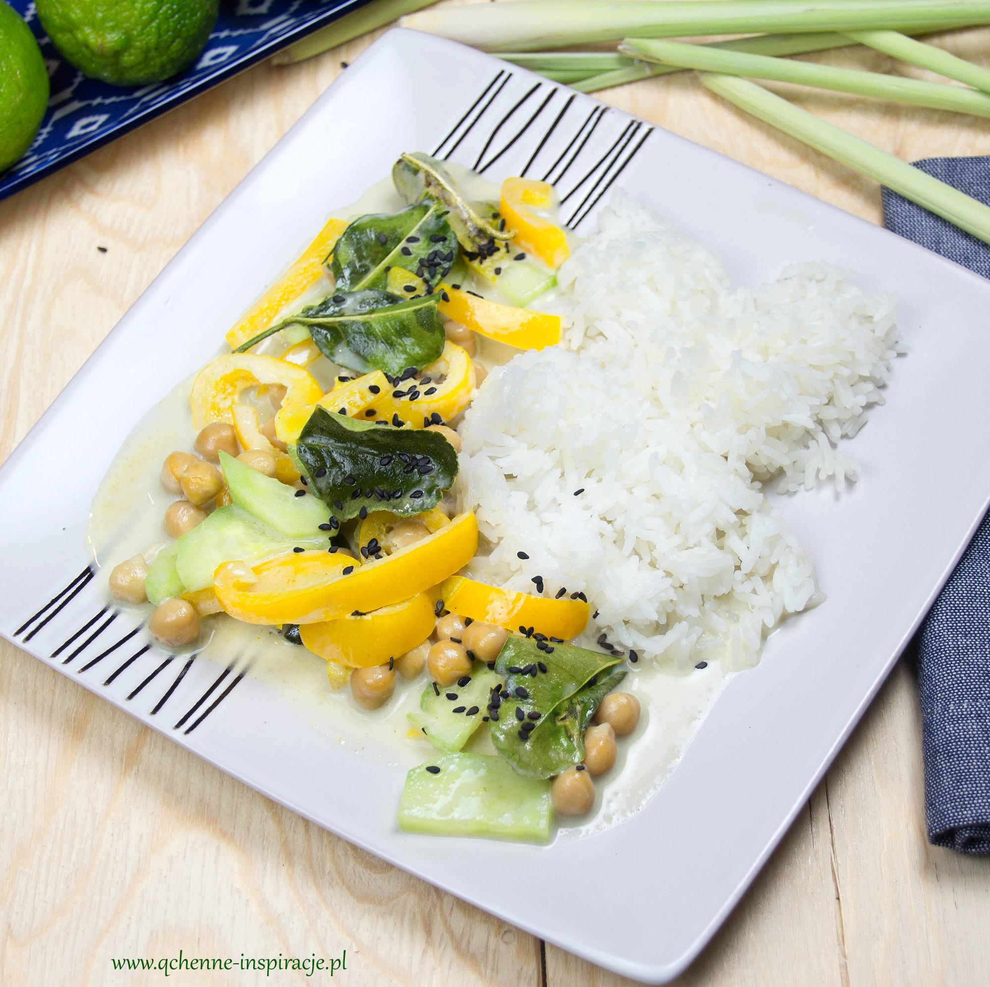 zielone curry z cieciorką wege wegan dieta