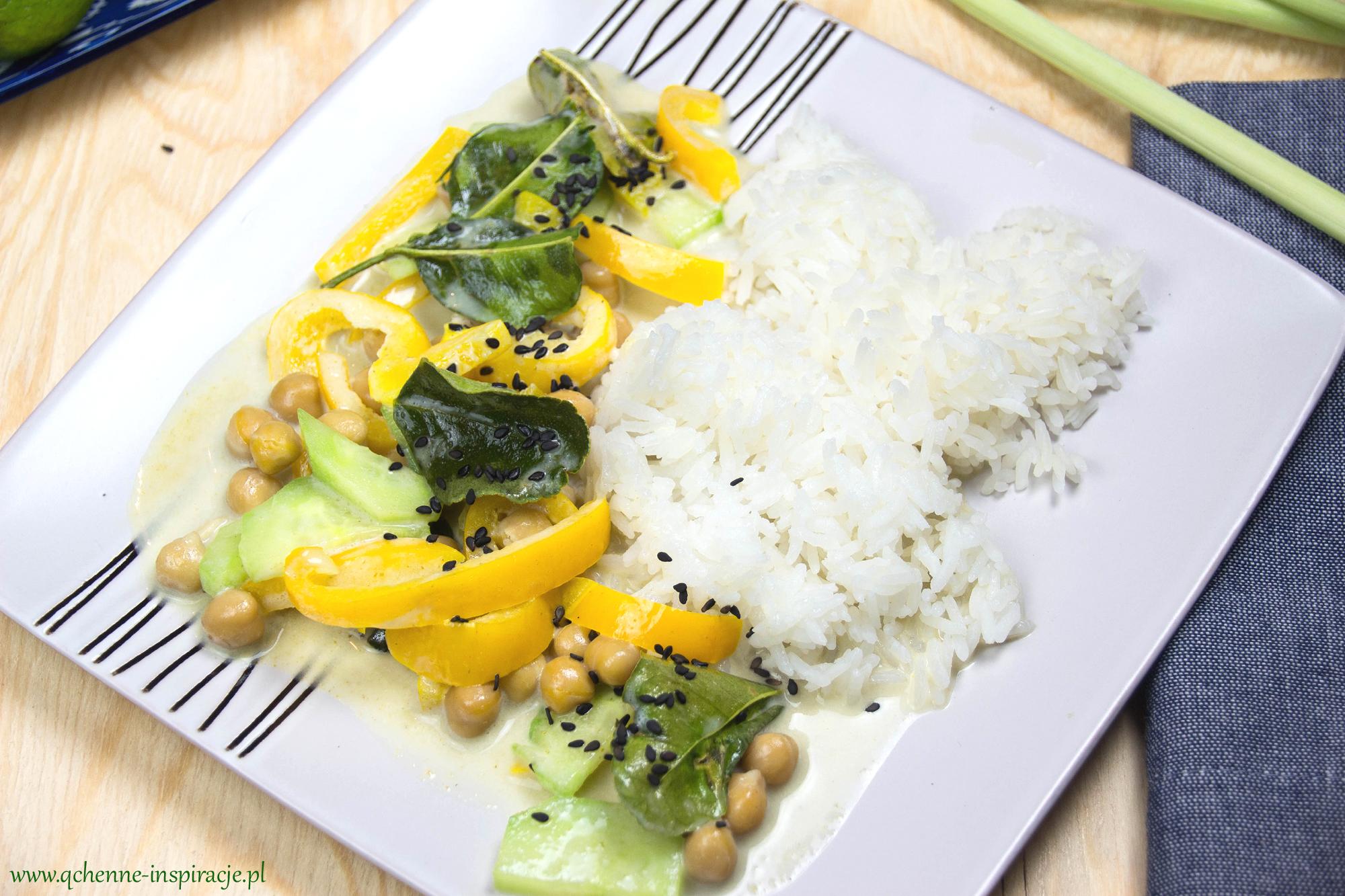 zielone curry z cieciorką wege wegan n