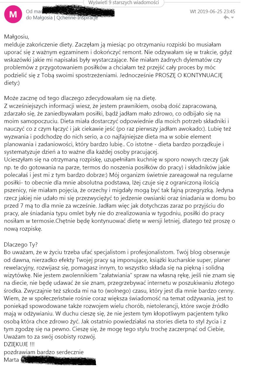 dieta redukcyjna opinia qchenne dietetyk lenartowicz